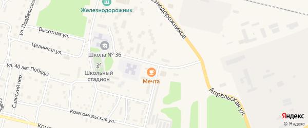 Улица 70 лет Октября на карте поселка Нового Уояна с номерами домов