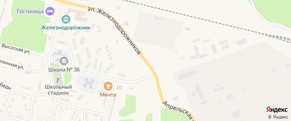 Апрельская улица на карте поселка Нового Уояна с номерами домов