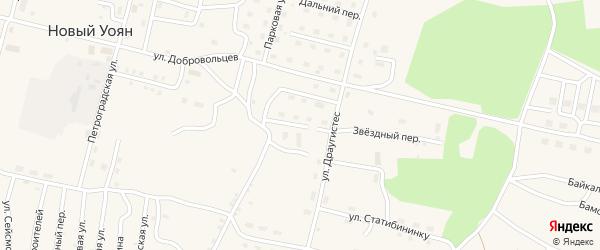 Нагорная улица на карте поселка Нового Уояна с номерами домов