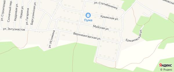 Ангарская улица на карте поселка Нового Уояна с номерами домов