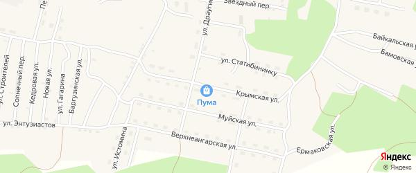 Крымская улица на карте поселка Нового Уояна с номерами домов