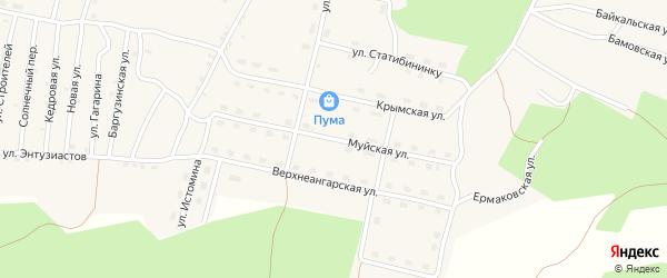 Муйская улица на карте поселка Нового Уояна с номерами домов