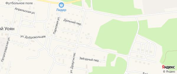 Тихий переулок на карте поселка Нового Уояна с номерами домов