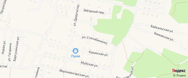 Улица Статибининку на карте поселка Нового Уояна с номерами домов