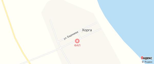 Улица Бадмаева на карте поселка Хорга с номерами домов