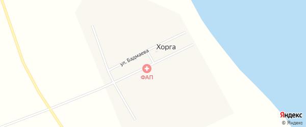 Улица Цыдыпова на карте поселка Хорга с номерами домов