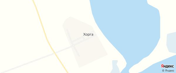 Карта поселка Хорга в Бурятии с улицами и номерами домов