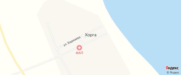 Улица Доржиева на карте поселка Хорга с номерами домов