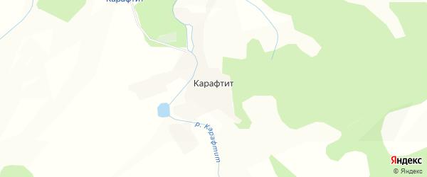 Карта поселка Карафтита в Бурятии с улицами и номерами домов
