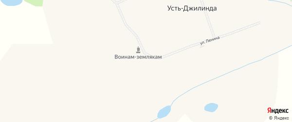 Лесная улица на карте поселка Усть-Джилинды с номерами домов