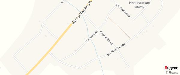 Степная улица на карте села Исинги с номерами домов