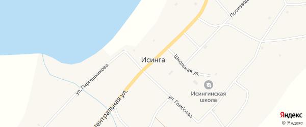 Кооперативный переулок на карте села Исинги с номерами домов