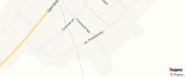 Переулок Жамбалова на карте села Исинги с номерами домов