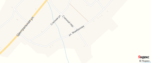 Улица Жамбалова на карте села Исинги с номерами домов