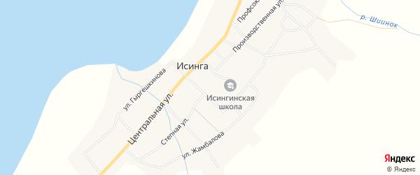 Фермерское хозяйство Местность у озера Большая Хорга на карте села Исинги с номерами домов
