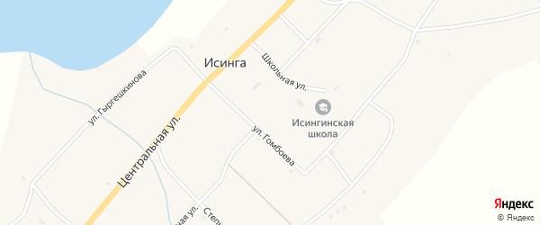 Степной переулок на карте села Исинги с номерами домов