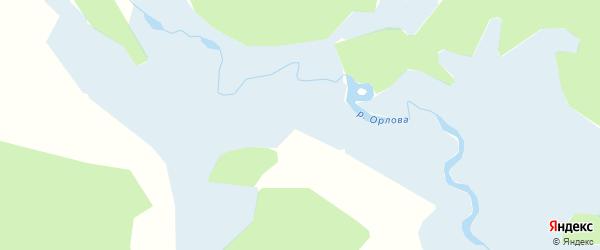 Карта заимки Гурта Алексеевки в Бурятии с улицами и номерами домов
