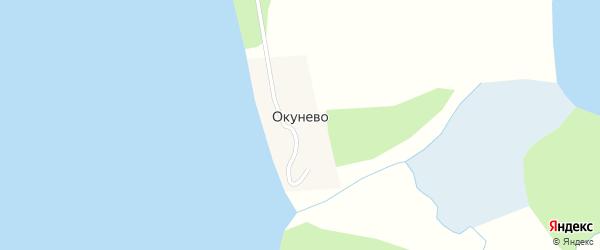 Центральная улица на карте поселка Окунево с номерами домов