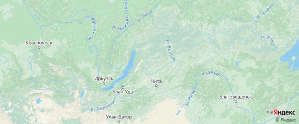 Карта Бурятии с городами и районами