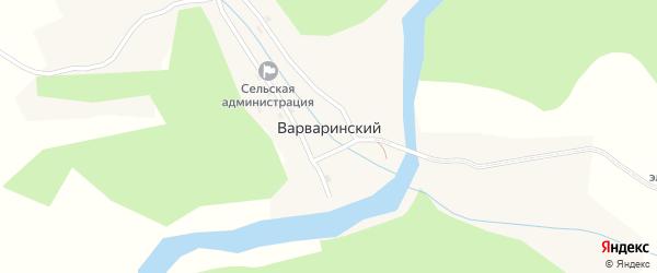 Красноармейская улица на карте Варваринского поселка с номерами домов