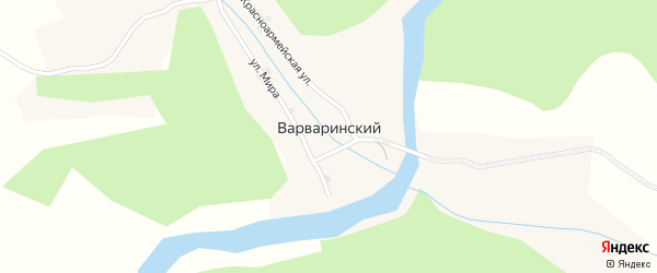 Заречная улица на карте Варваринского поселка с номерами домов