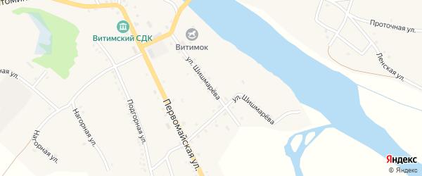 Улица Шишмарева на карте села Романовки с номерами домов