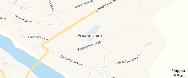 Улица Истоминых на карте села Романовки с номерами домов