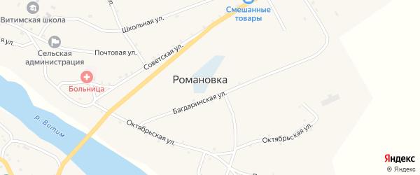 Ленская улица на карте села Романовки с номерами домов