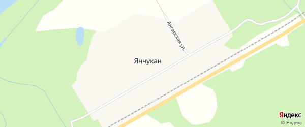Улица Большая Секция на карте поселка Янчукана с номерами домов