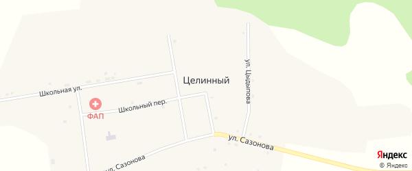 Школьная улица на карте Целинного поселка с номерами домов