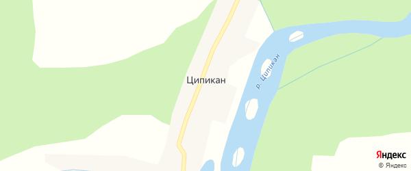 Центральная улица на карте поселка Ципикана с номерами домов