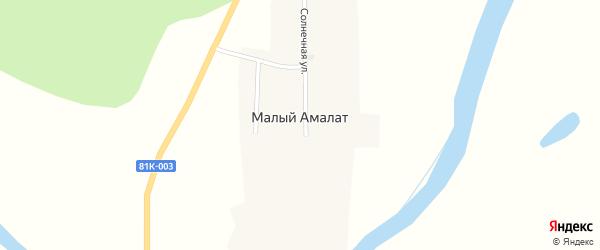 Подгорная улица на карте поселка Малого Амалат с номерами домов