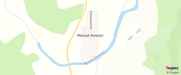 Карта поселка Малого Амалат в Бурятии с улицами и номерами домов