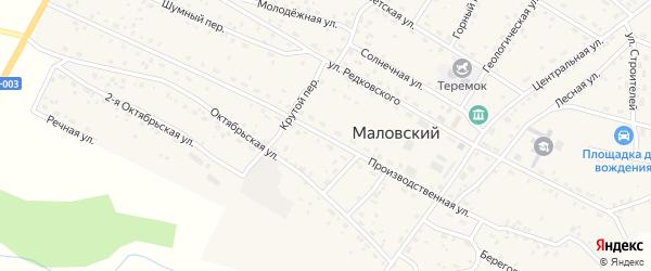 Производственная улица на карте Маловского поселка с номерами домов