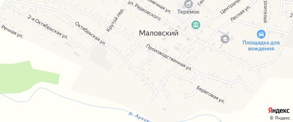 Октябрьский переулок на карте Маловского поселка с номерами домов