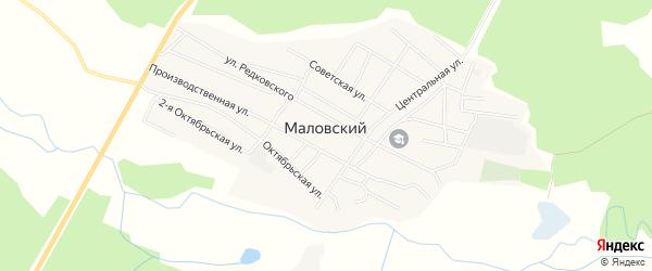 Карта Маловского поселка в Бурятии с улицами и номерами домов