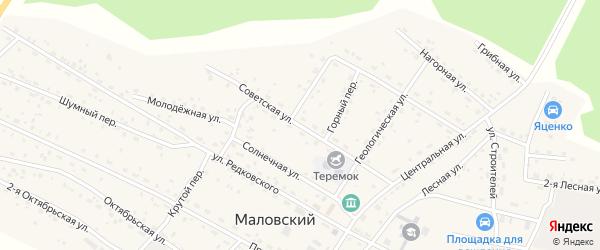Советская улица на карте Маловского поселка с номерами домов