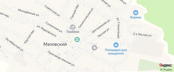 Центральная улица на карте Маловского поселка с номерами домов