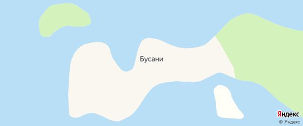 Рыбацкая улица на карте поселка Бусаней с номерами домов