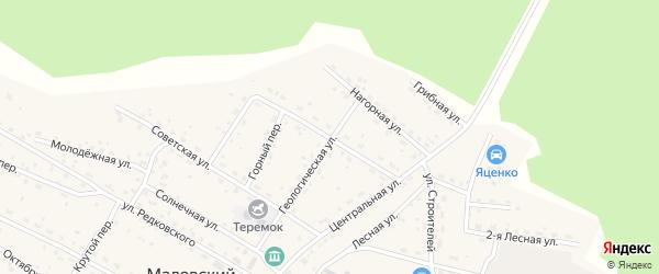 Подгорная улица на карте Маловского поселка с номерами домов