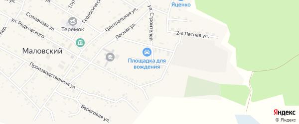 Спортивный переулок на карте Маловского поселка с номерами домов
