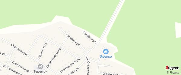 Грибная улица на карте Маловского поселка с номерами домов