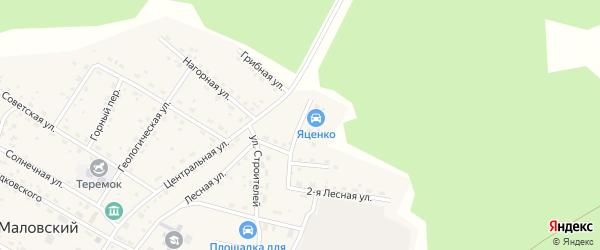 Зеленая улица на карте Маловского поселка с номерами домов