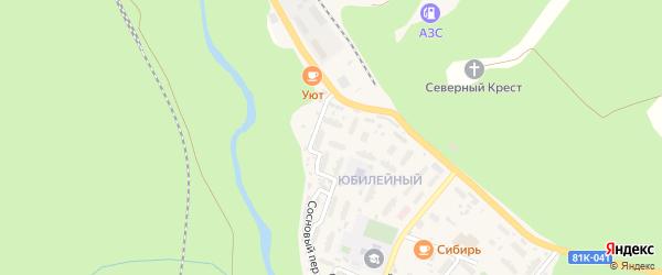 Юбилейный квартал на карте поселка Северомуйска с номерами домов