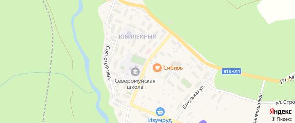 Забайкальская улица на карте поселка Северомуйска с номерами домов