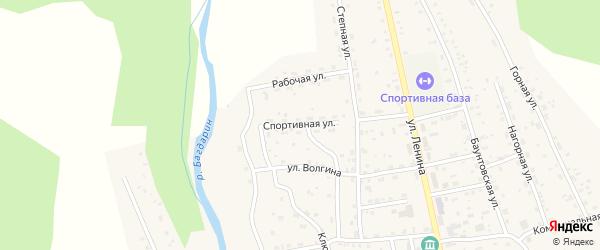Спортивная улица на карте села Багдарина с номерами домов