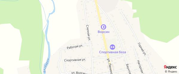 Степная улица на карте села Багдарина с номерами домов