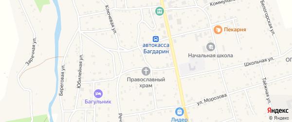 Производственная улица на карте села Багдарина с номерами домов