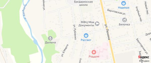 Улица Рубленко на карте села Багдарина с номерами домов