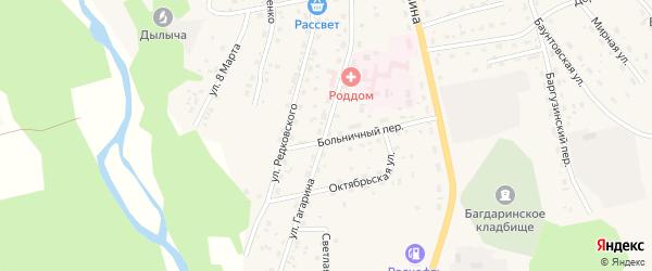 Улица Гагарина на карте села Багдарина с номерами домов